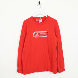 Vintage ADIDAS Big Logo Sweatshirt Jumper Red XS