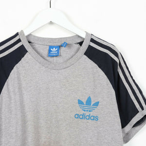 Vintage ADIDAS ORIGINALS Small Logo T Shirt Tee Grey | Large L