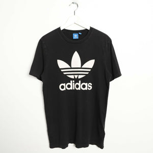 Vintage ADIDAS ORIGINALS Big Logo T Shirt Tee Black Medium M