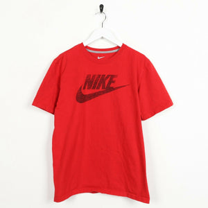 Vintage NIKE Big Logo T Shirt Tee Red Medium M