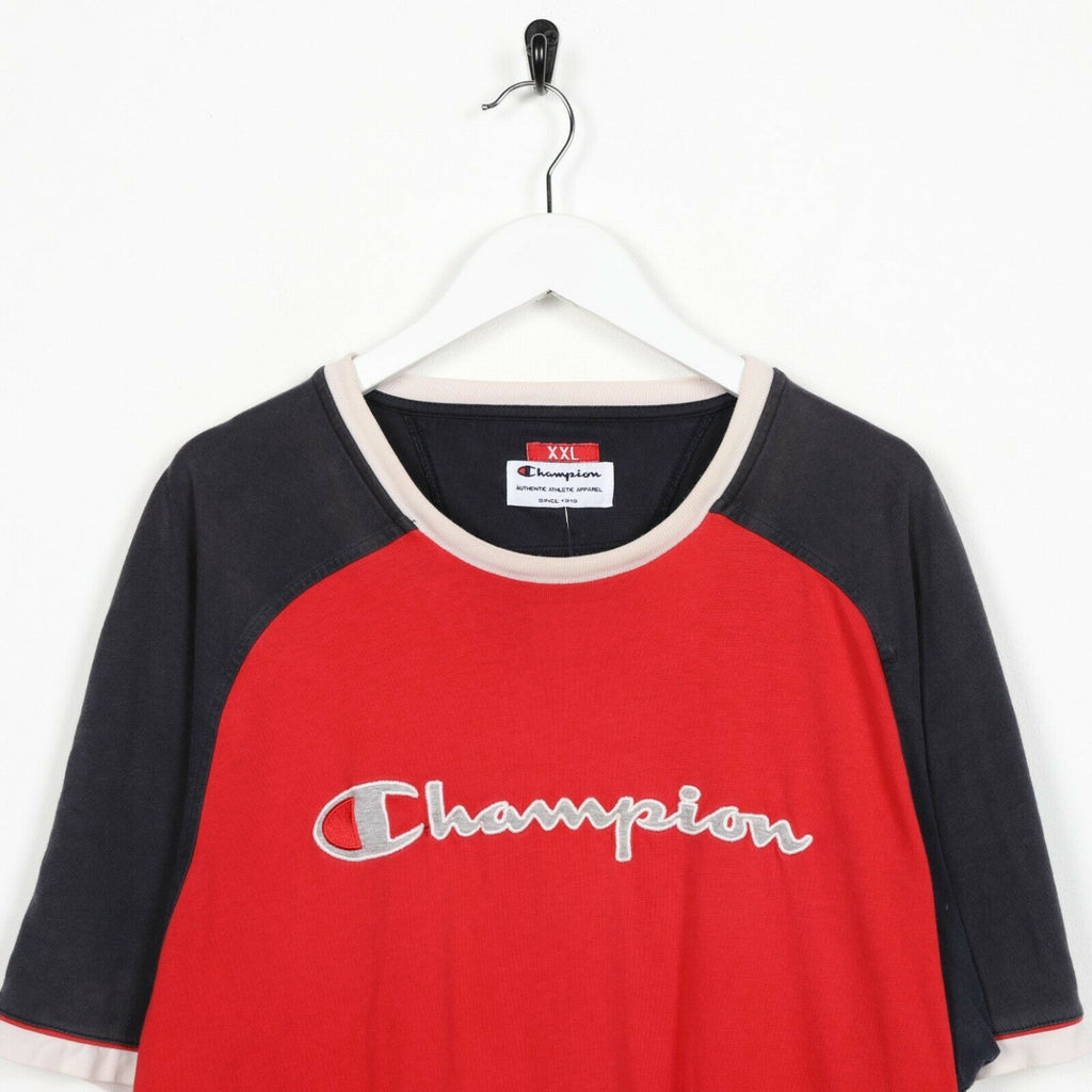 Vintage CHAMPION Big Logo T Shirt Tee Red | 2XL