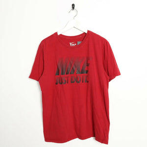 Vintage NIKE Graphic Logo T Shirt Tee Red Large L