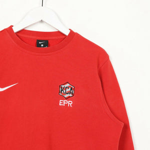 Vintage NIKE Small Logo Sweatshirt Jumper Red small S