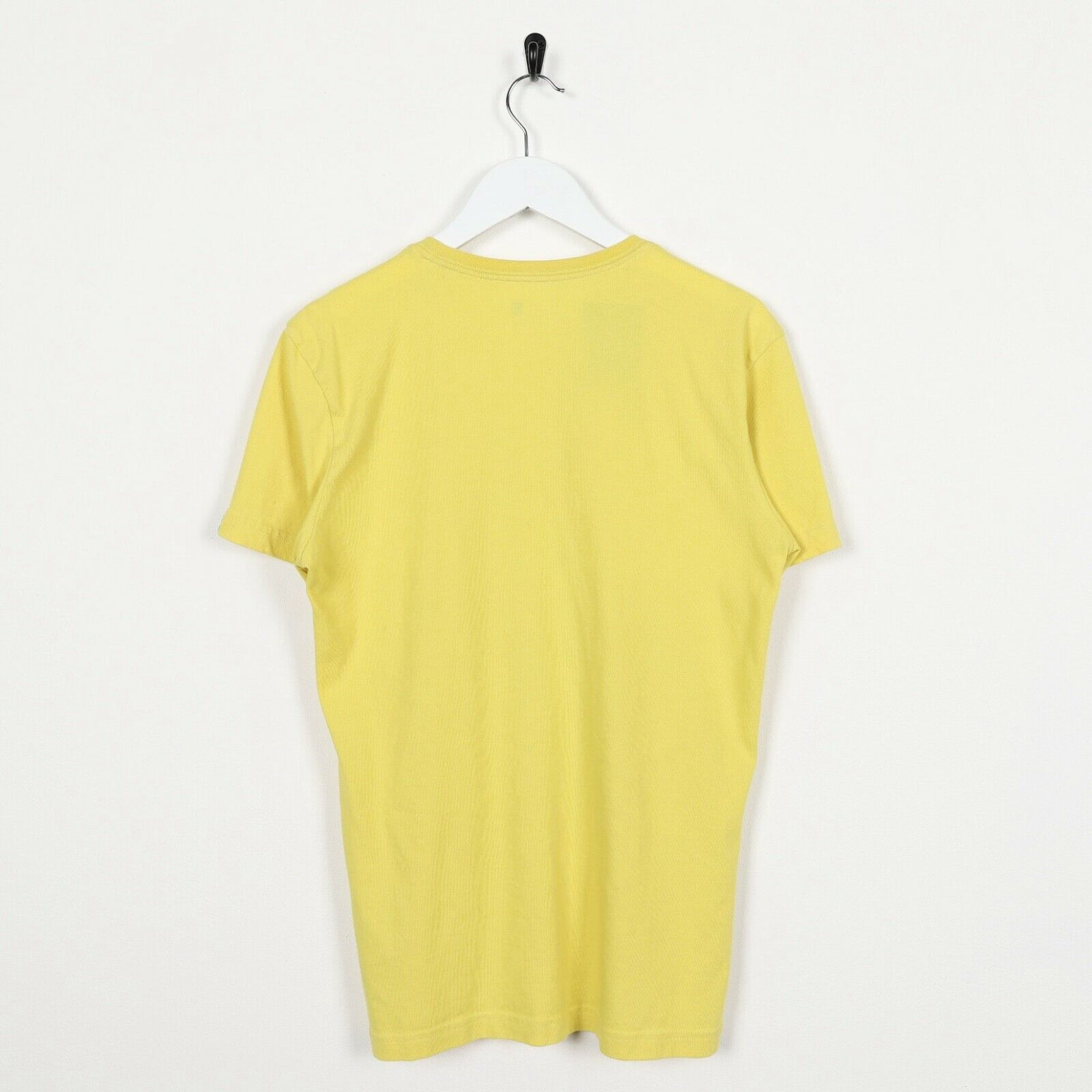 Vintage ADIDAS Big Graphic Logo T Shirt Tee Yellow | Small S