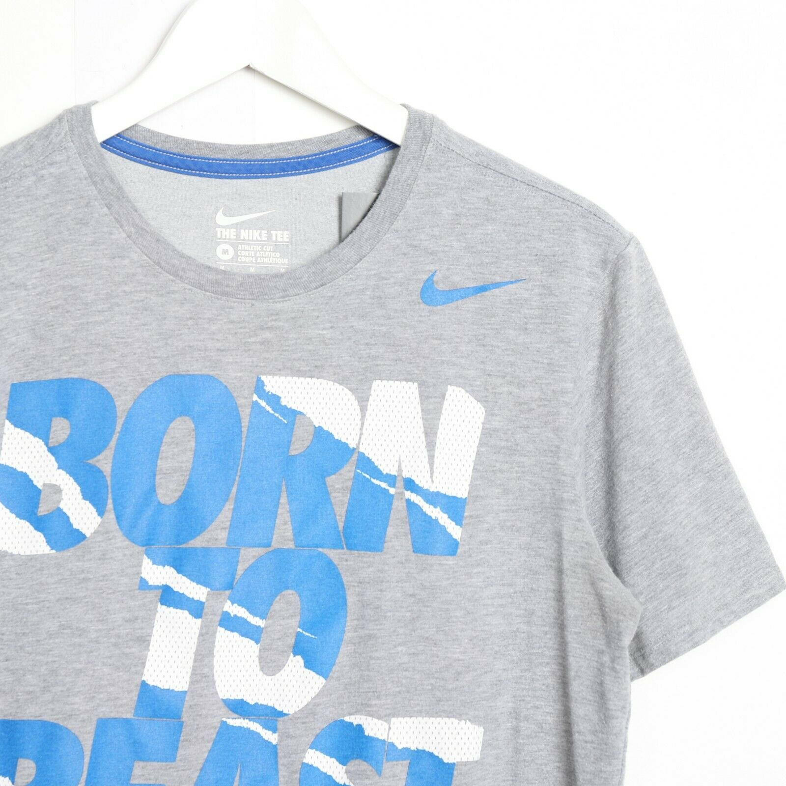 Vintage NIKE Big Graphic Logo T Shirt Tee Grey | Medium M
