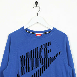 Vintage Women's NIKE Big Logo Sweatshirt Jumper Blue XL