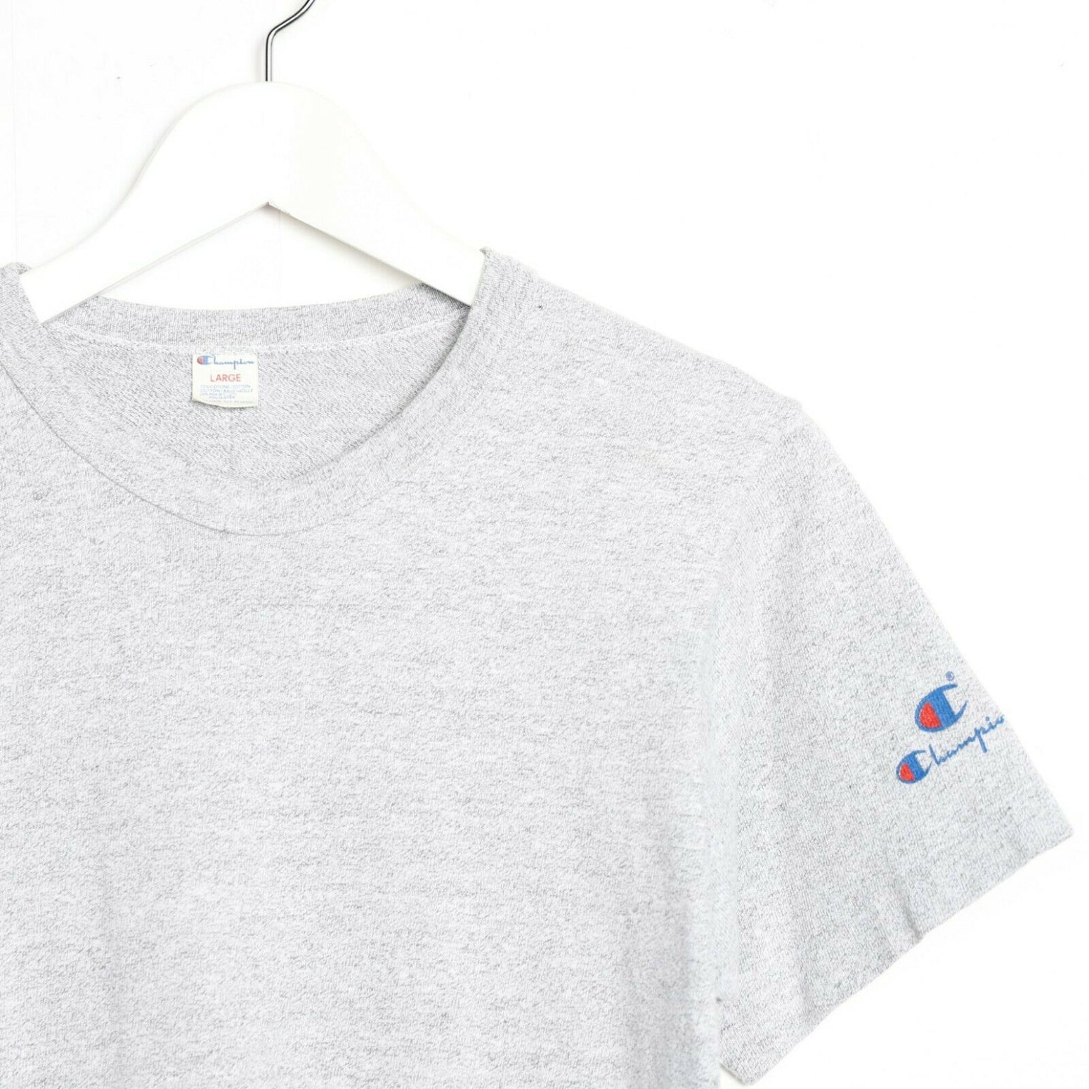 Vintage 90s CHAMPION Small Sleeve Logo T Shirt Tee Grey small S