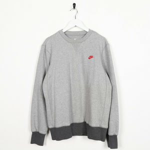Vintage NIKE Small Logo Sweatshirt Jumper Grey | Medium M