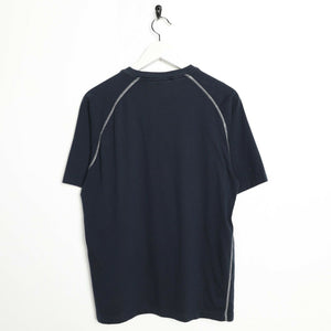Vintage CHAMPION Small Logo T Shirt Tee Navy Blue XL