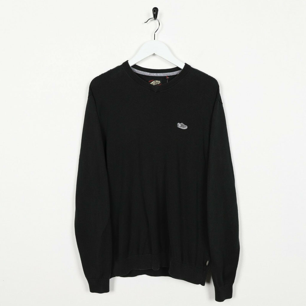 Vintage VANS Small Logo Lightweight Sweatshirt Jumper Black | Small S
