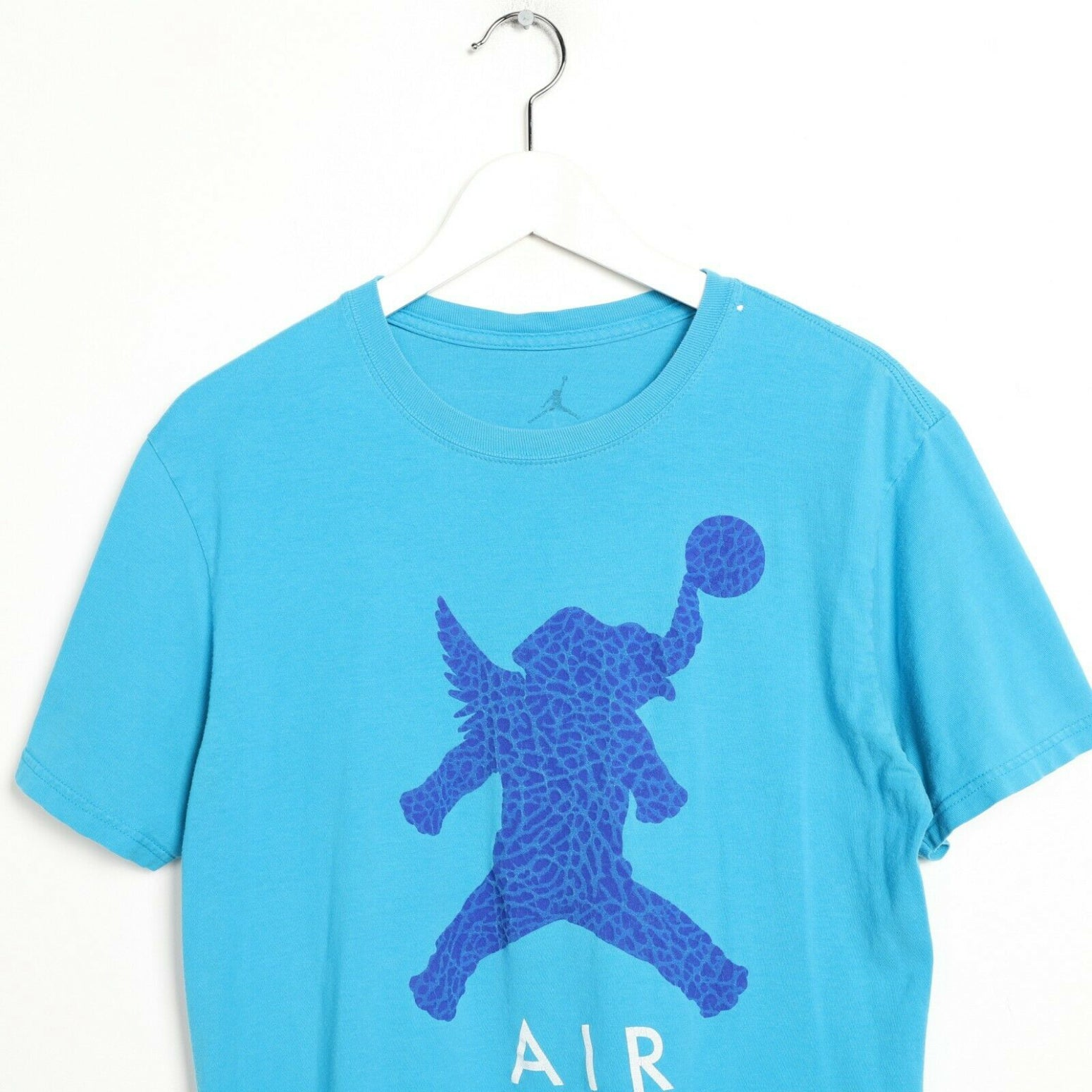 Vintage NIKE AIR JORDAN Big Logo T Shirt Tee Blue | Medium M