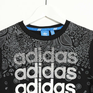 Vintage ADIDAS ORIGINALS Graphic Print Spell Out Long Sleeve T Shirt UK 8-10
