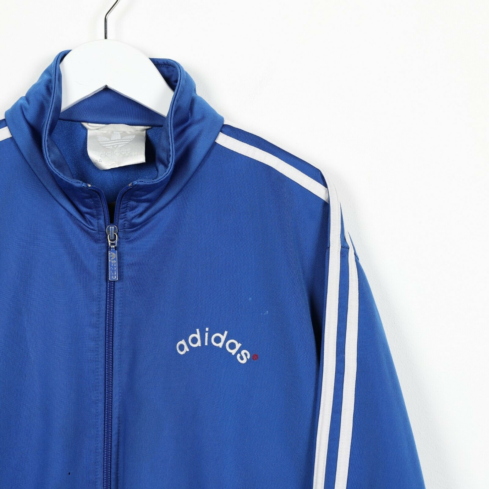 Vintage 80s ADIDAS Small Logo Tracksuit Top Jacket Blue | Medium M