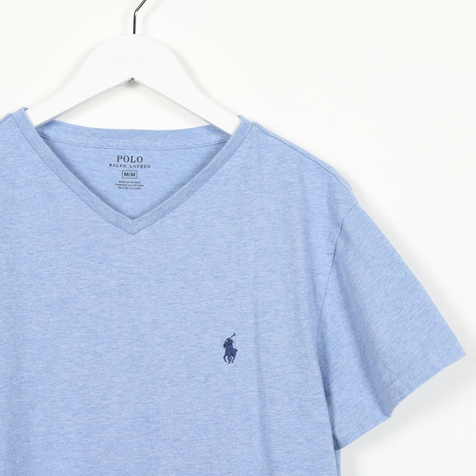 Vintage RALPH LAUREN Small Logo T Shirt Tee Blue | Medium M