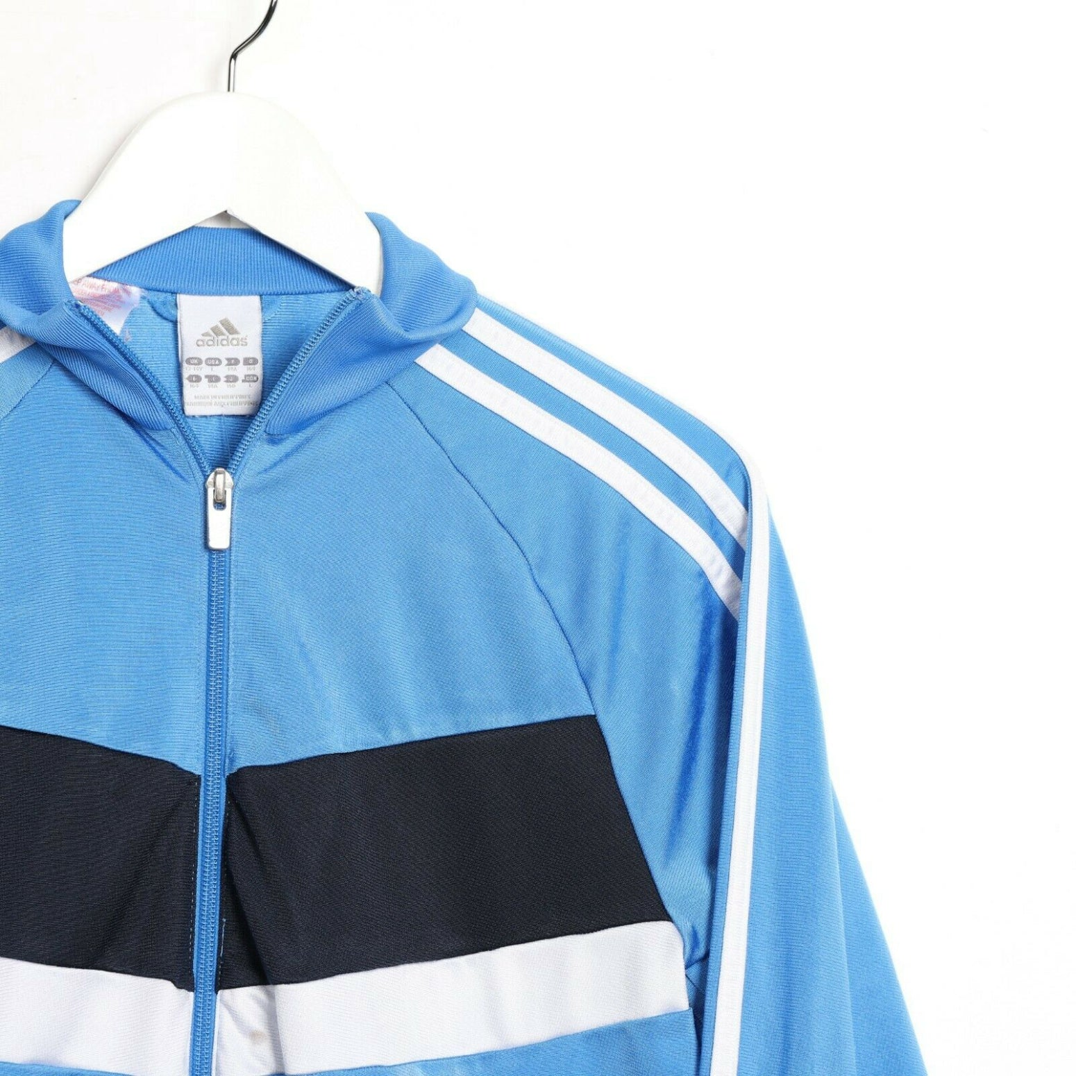 Vintage Women's ADIDAS Small Logo Zip Up Track Top Jacket Blue small s