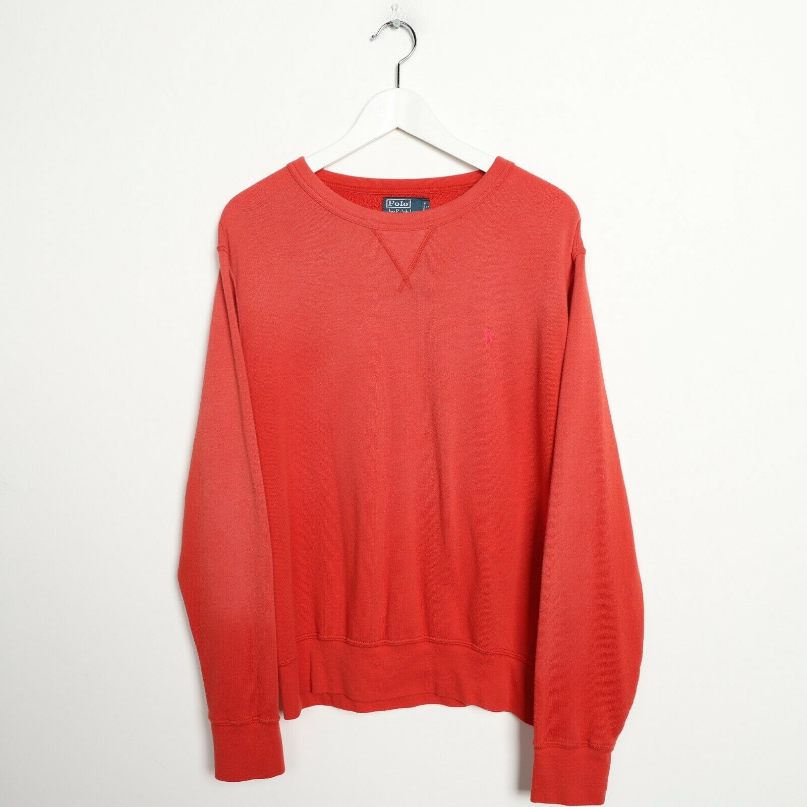 Vintage RALPH LAUREN Small Logo Sweatshirt Jumper Red | Large L