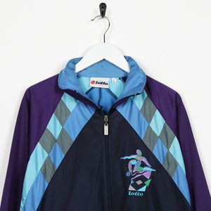 Vintage 90s LOTTO Big Logo Track Top Jacket Blue | Large L