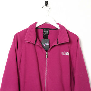 Vintage Women's THE NORTH FACE Small Logo Zip Up Fleece Top Purple | Large L