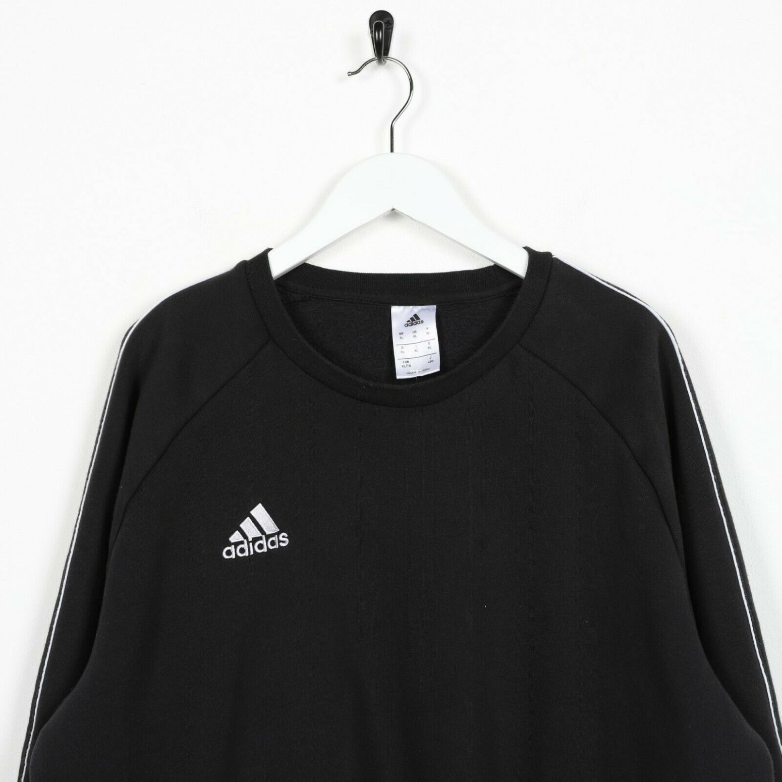 Vintage ADIDAS Small Logo Sweatshirt Jumper Black | XL