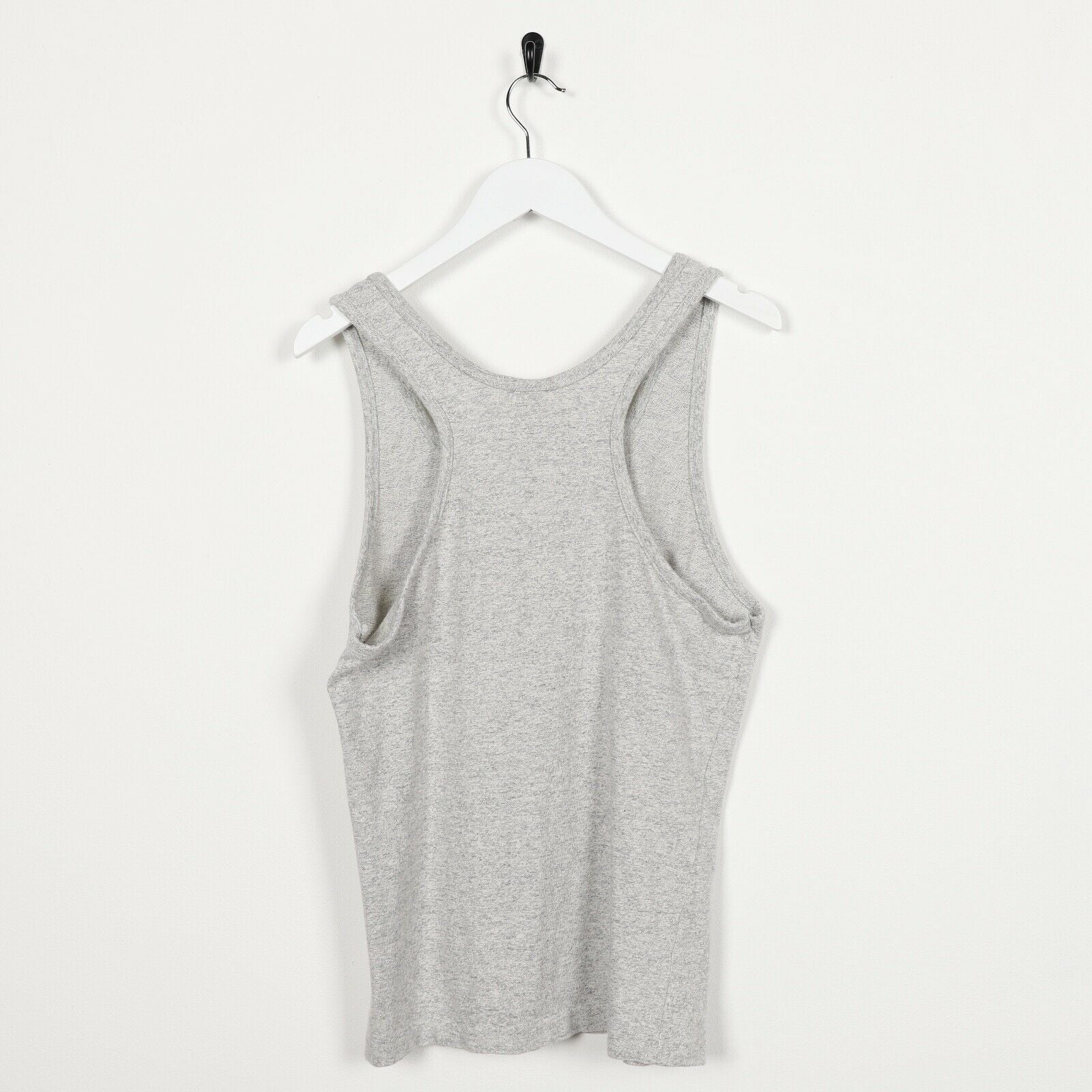 Vintage CHAMPION Spell Out Sleeveless T Shirt Tee Vest Grey | Small S