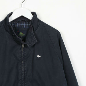 Vintage LACOSTE Small Logo Harrington Jacket Coat Navy Blue | Medium M