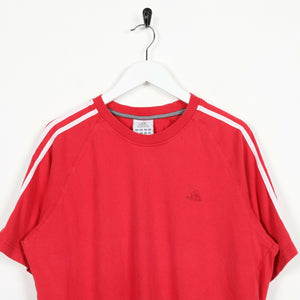 Vintage ADIDAS Small Logo T Shirt Tee Red | Large L