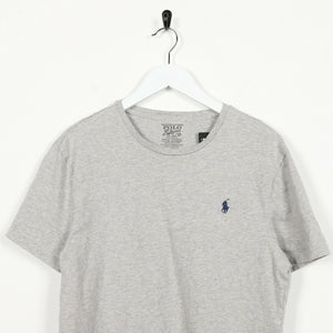 Vintage RALPH LAUREN Small Logo T Shirt Tee Grey | Small S