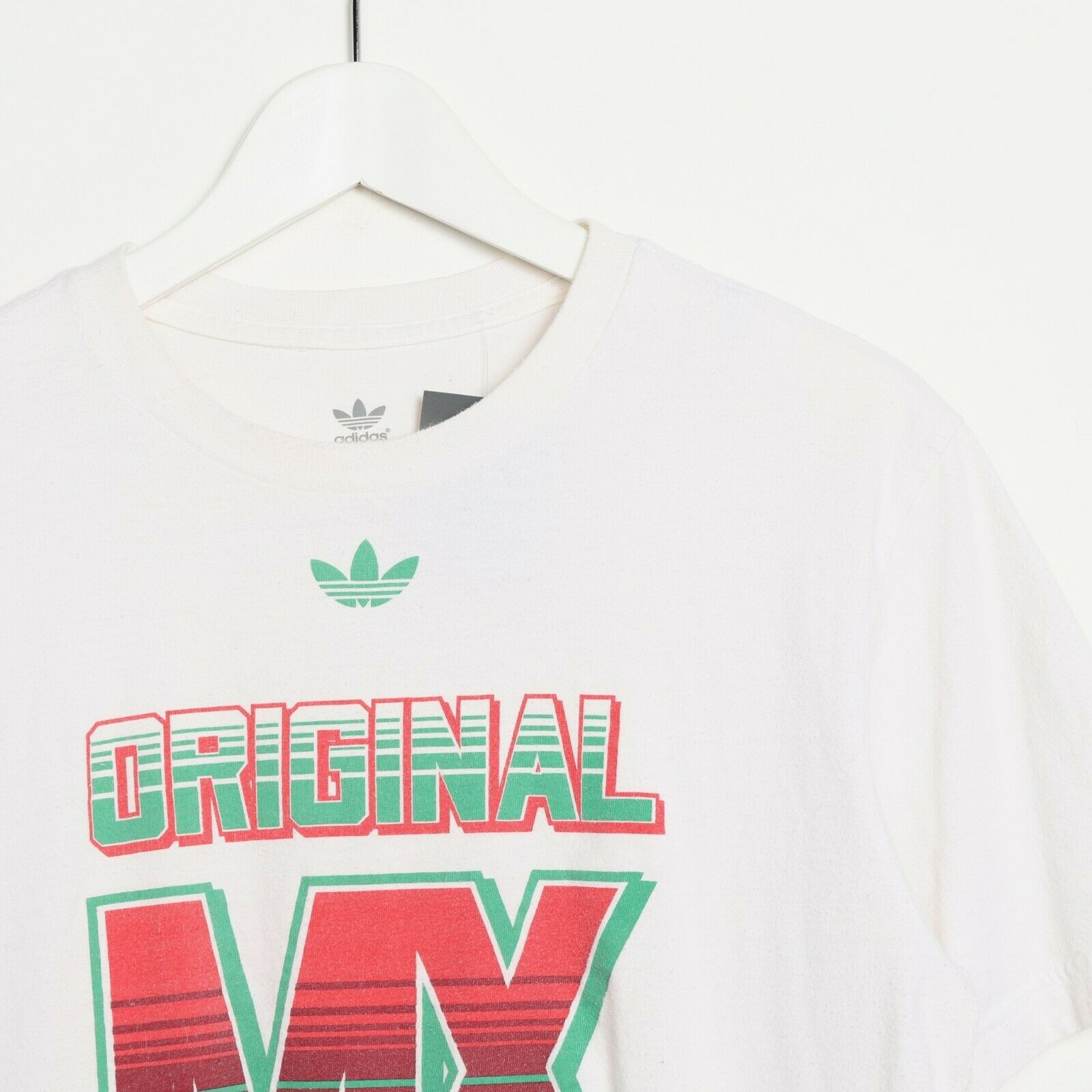 Vintage ADIDAS ORIGINALS Big Graphic Logo T Shirt Tee White | Medium M
