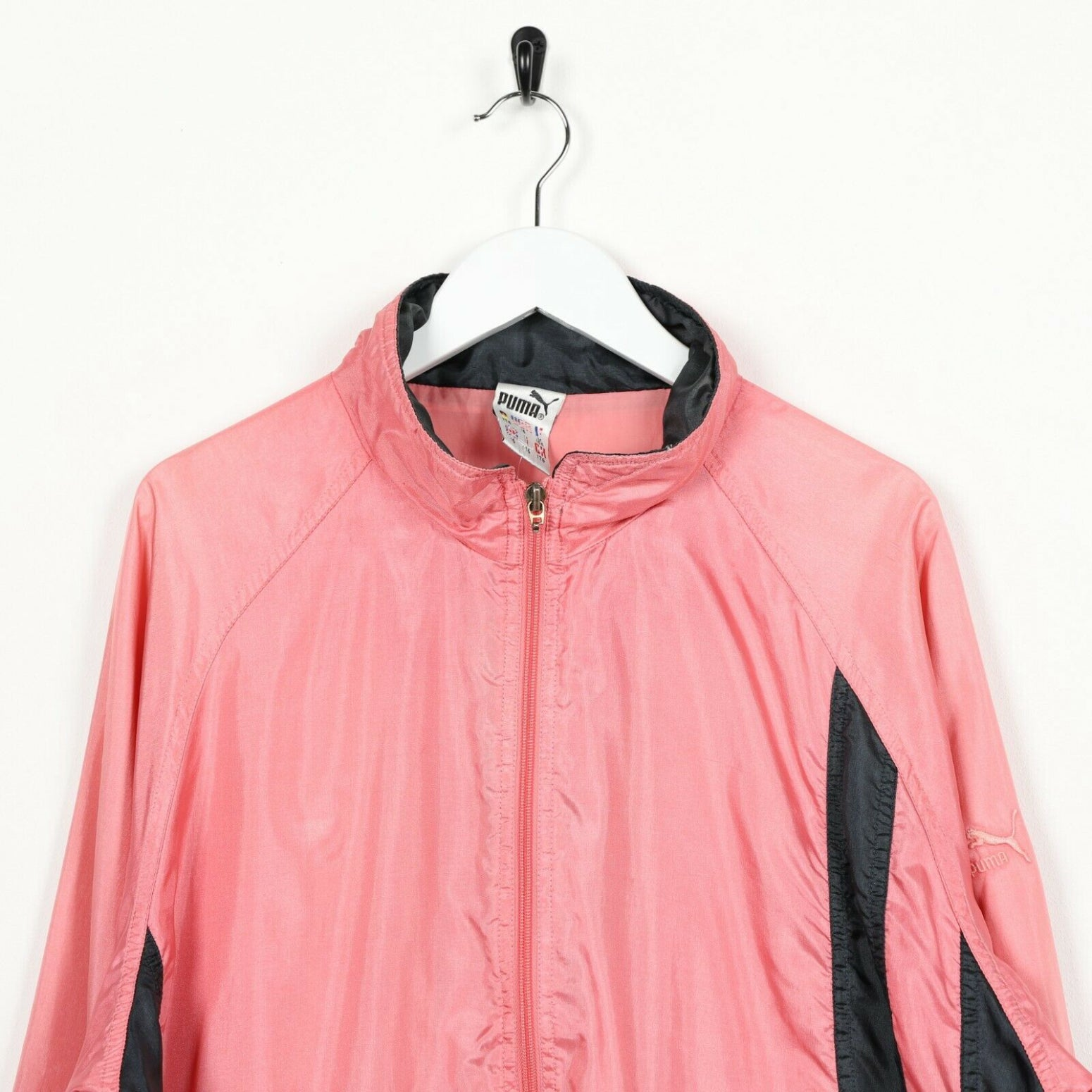 Vintage 90s Women's PUMA Soft Shell Festival Windbreaker Jacket Pink | UK 10