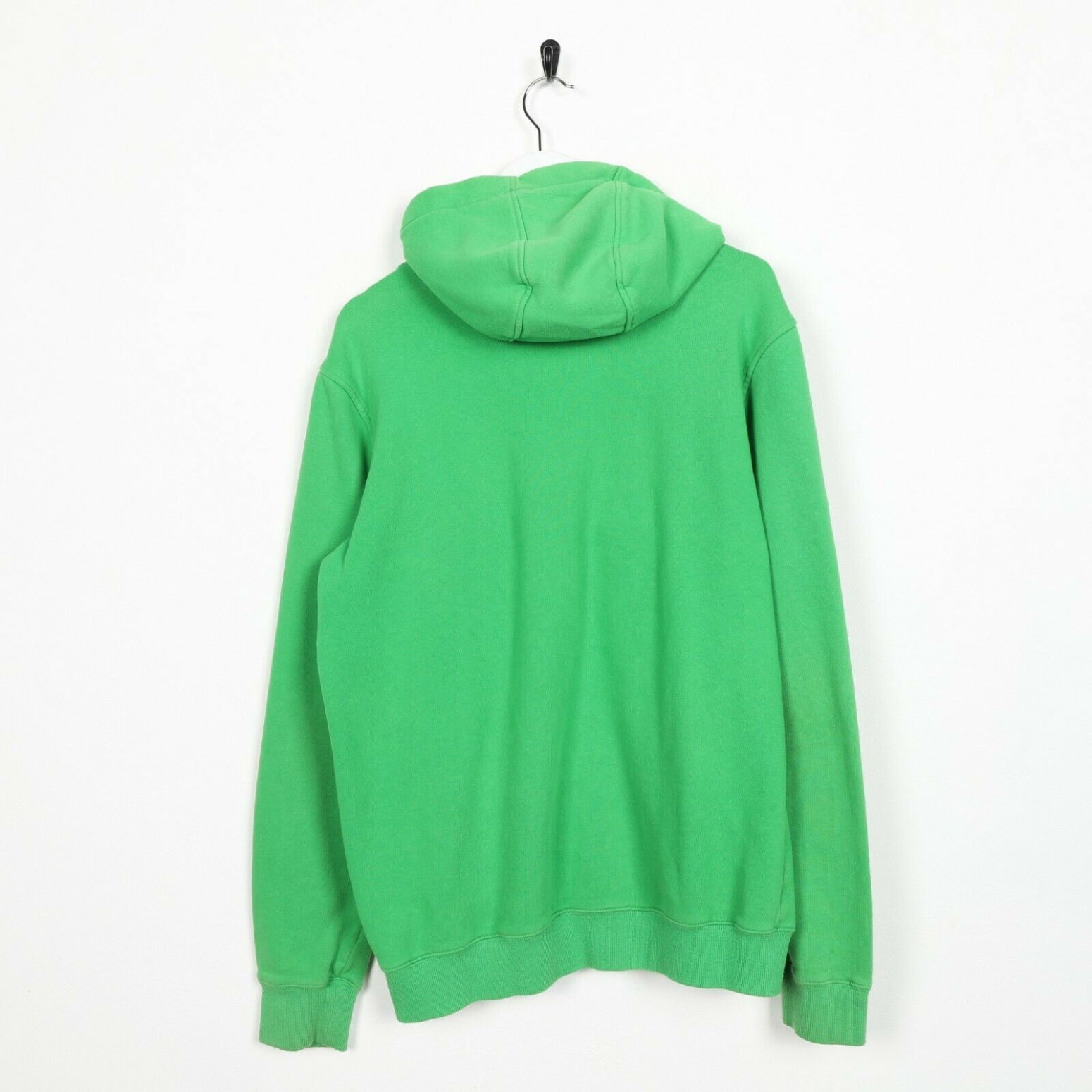 Vintage ADIDAS Big Logo Hoodie Sweatshirt Green | Small S