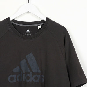 Vintage ADIDAS Big Logo T Shirt Tee Black | Large L