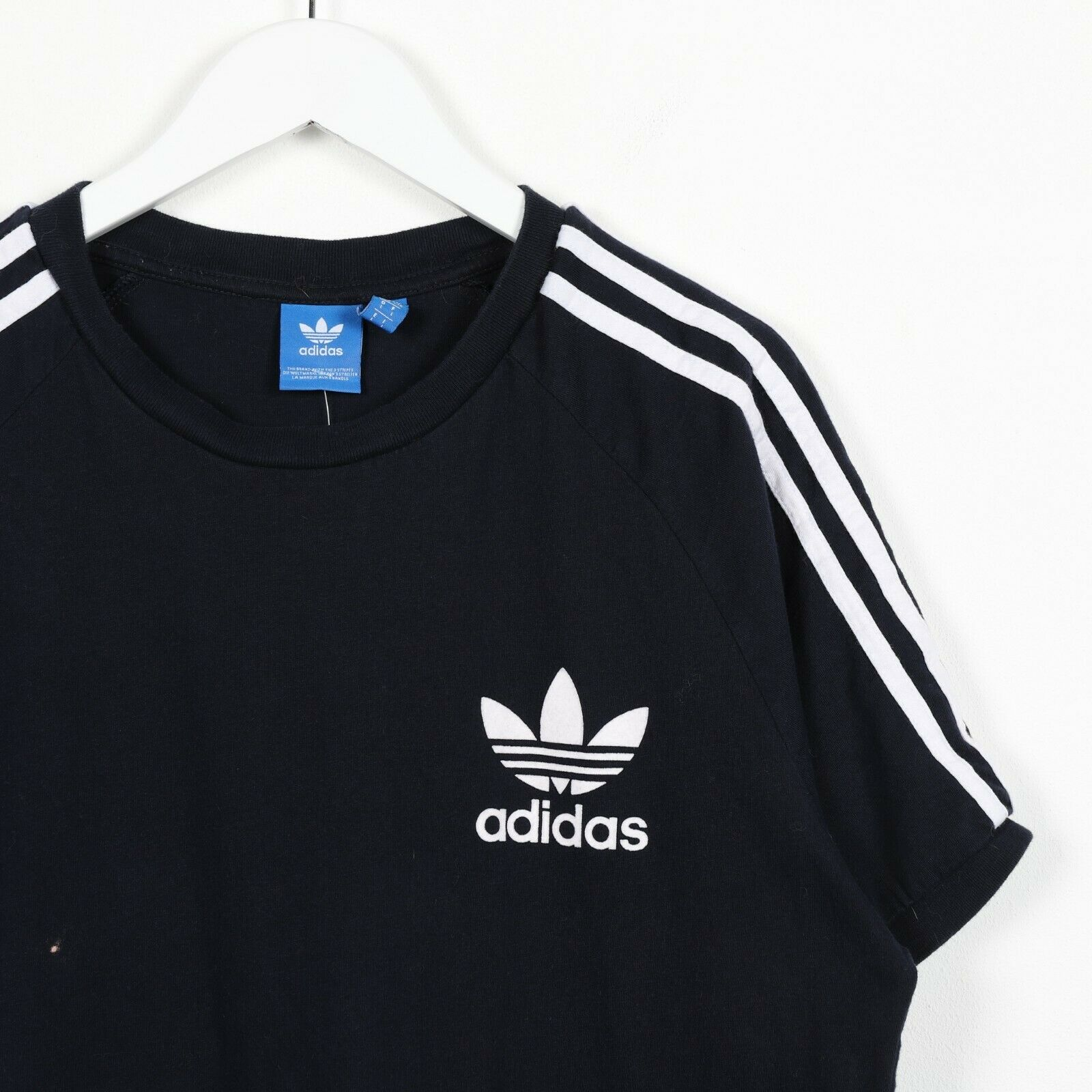 Vintage ADIDAS ORIGINALS Trefoil Logo T Shirt Tee Navy Blue Large L
