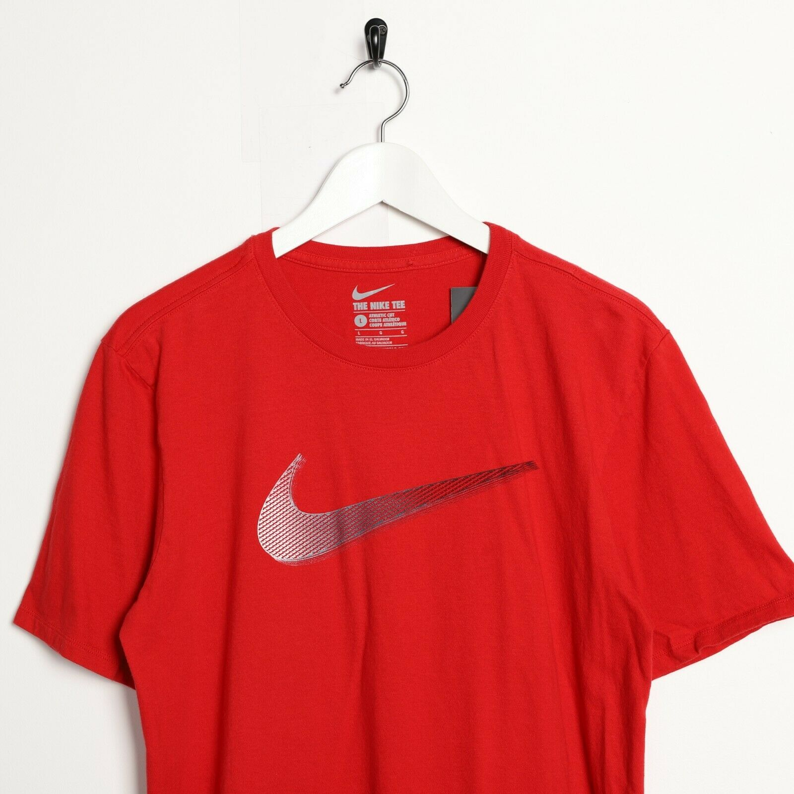 Vintage NIKE Big Swoosh Logo T Shirt Tee Red | Large L