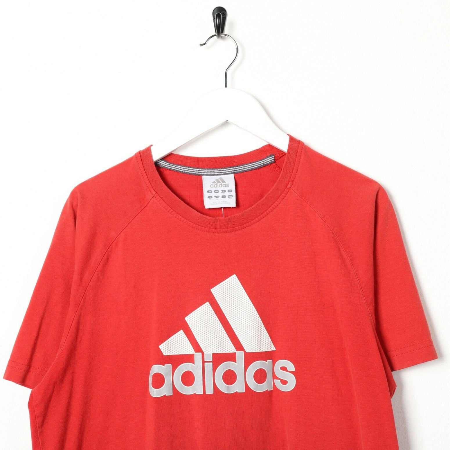 Vintage ADIDAS Big Logo T Shirt Tee Red | Medium M
