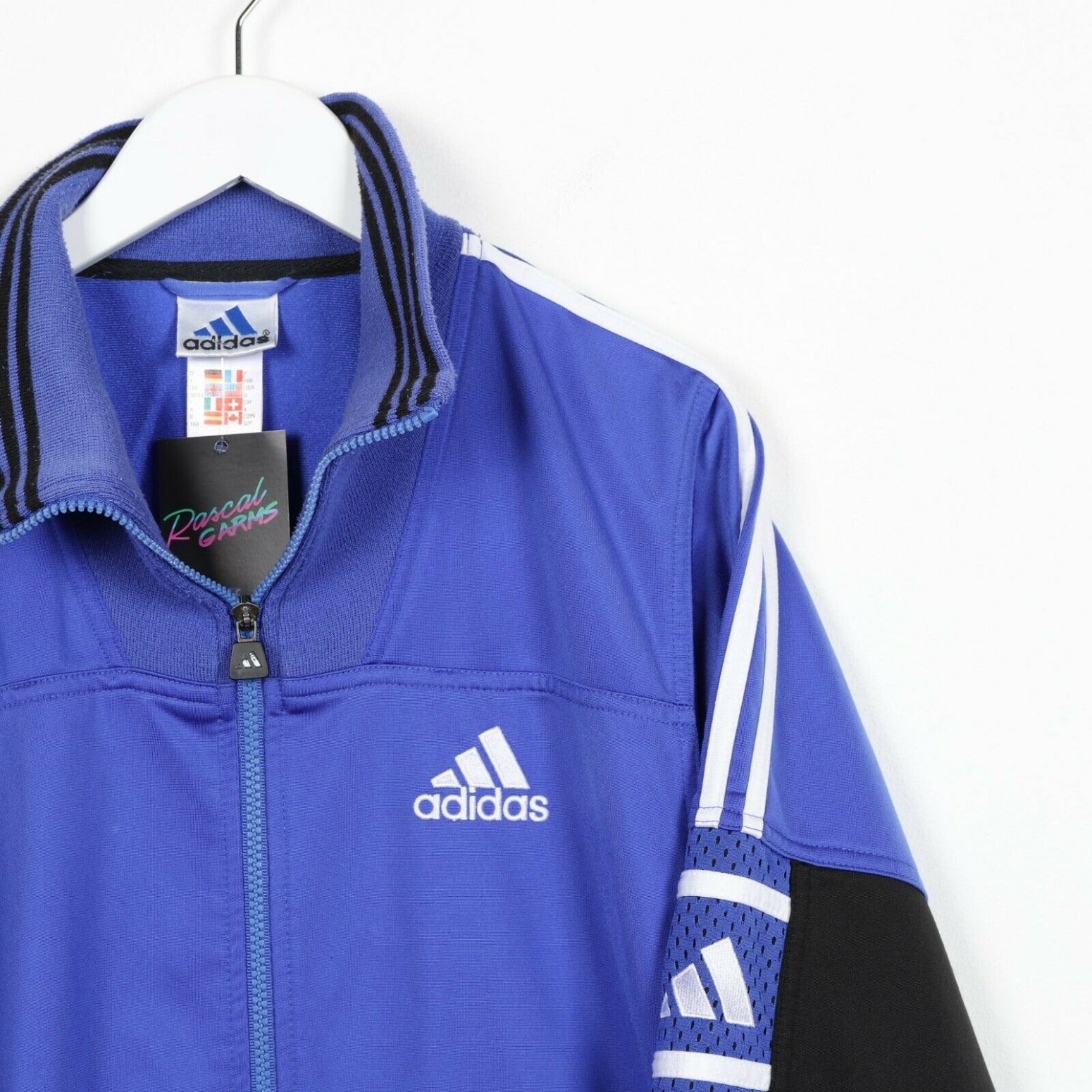 Vintage 90s ADIDAS Small Logo Track Top Jacket Purple Medium M