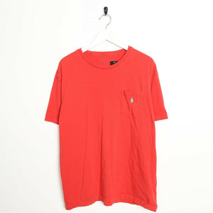 Vintage RALPH LAUREN Small Logo T Shirt Tee Red | Large L