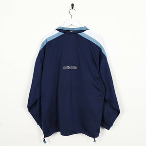 Vintage 90s ADIDAS Small Logo Track Top Jacket Navy Blue Large L