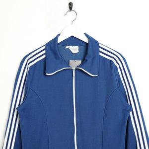 Vintage 80s ADIDAS Small Logo Tracksuit Top Jacket Blue small S