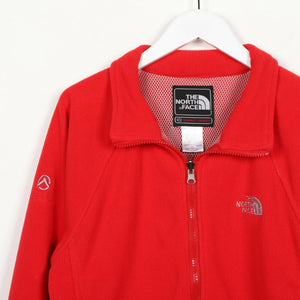 Vintage Women's THE NORTH FACE Summit Series Zip Up Fleece Top Red Small s