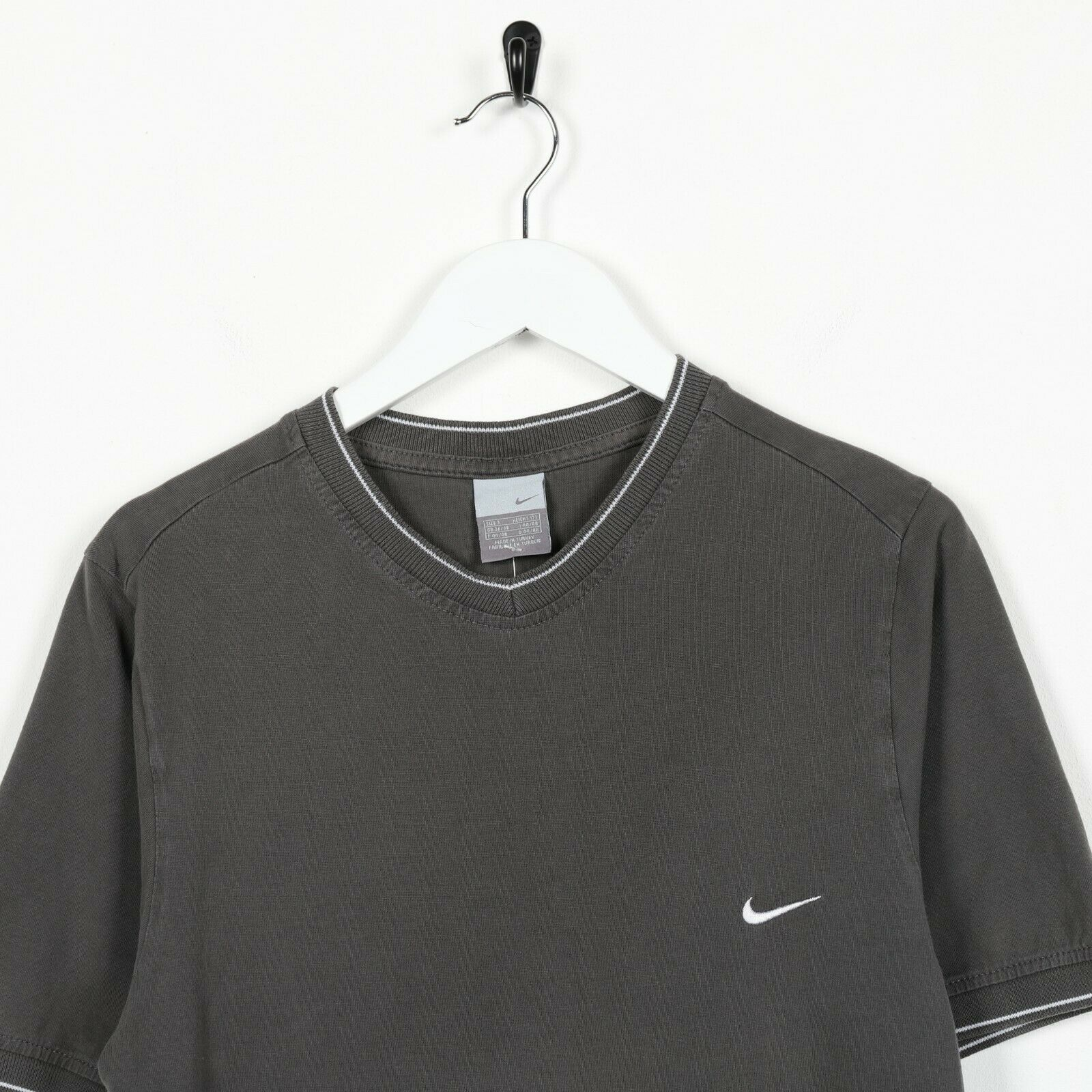 Vintage NIKE Small Logo T Shirt Tee Grey | Small S