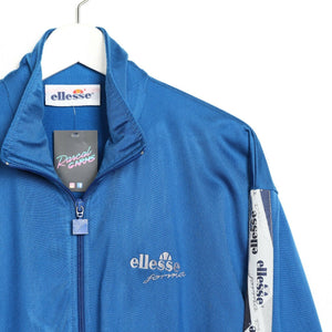 Vintage ELLESSE Small Logo Tape Arm Track Top Jacket Blue | Small S