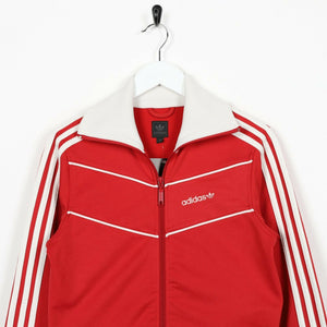 Vintage Women's ADIDAS ORIGINALS Small Logo Track Top Jacket Red | UK 10