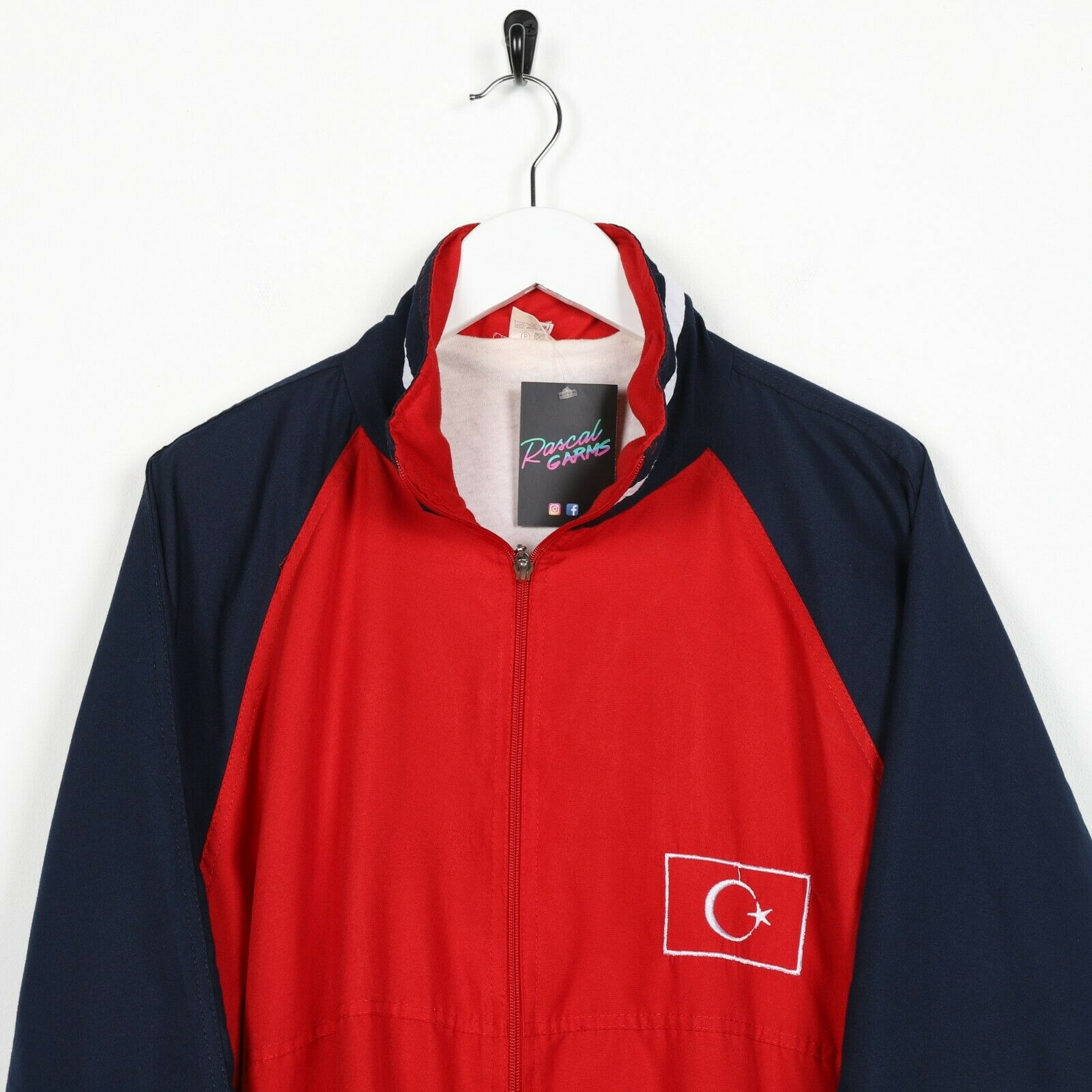 Vintage 90s Soft Shell Windbreaker Jacket Red XL