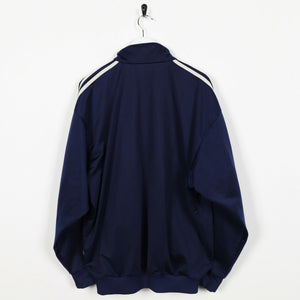 Vintage 80s ADIDAS Small Logo Track Top Jacket Navy Blue | Medium M