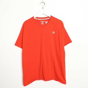 Vintage CHAMPION Small Logo T Shirt Tee Orange XL