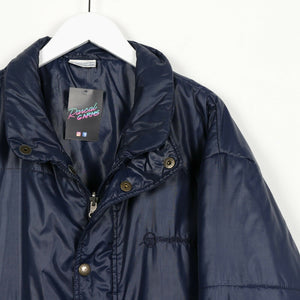 Vintage SERGIO TACCHINI Small Logo Puffer Jacket Coat Blue XL