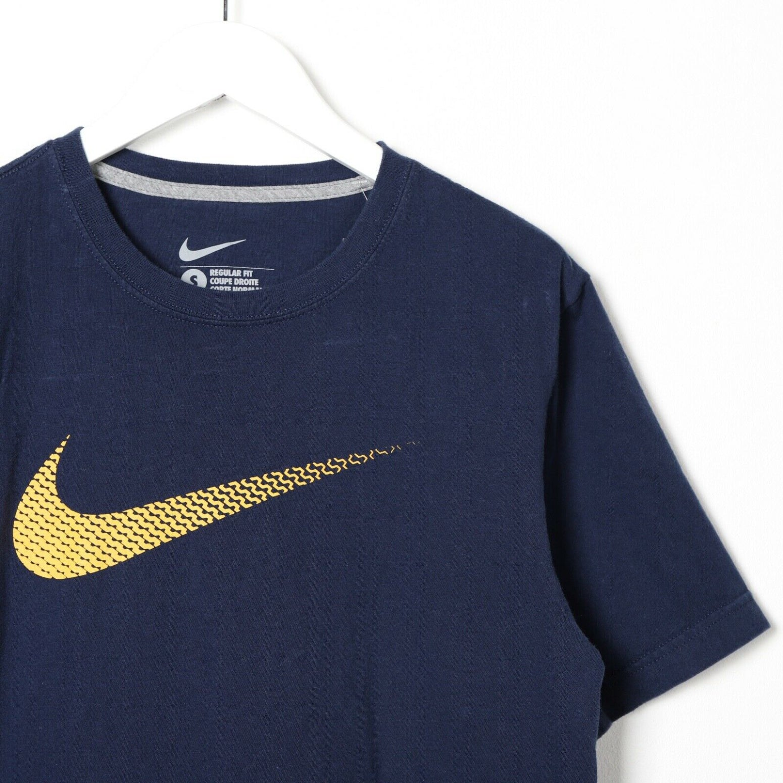 Vintage NIKE Graphic Logo T Shirt Tee Navy Small S