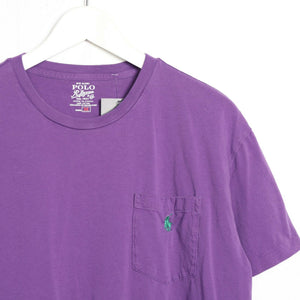 Vintage RALPH LAUREN Small Logo T Shirt Tee Purple | Medium M