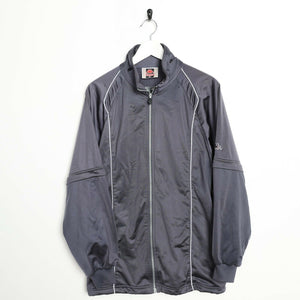 Vintage KAPPA Sleeve Logo Track Top Jacket Grey Large L