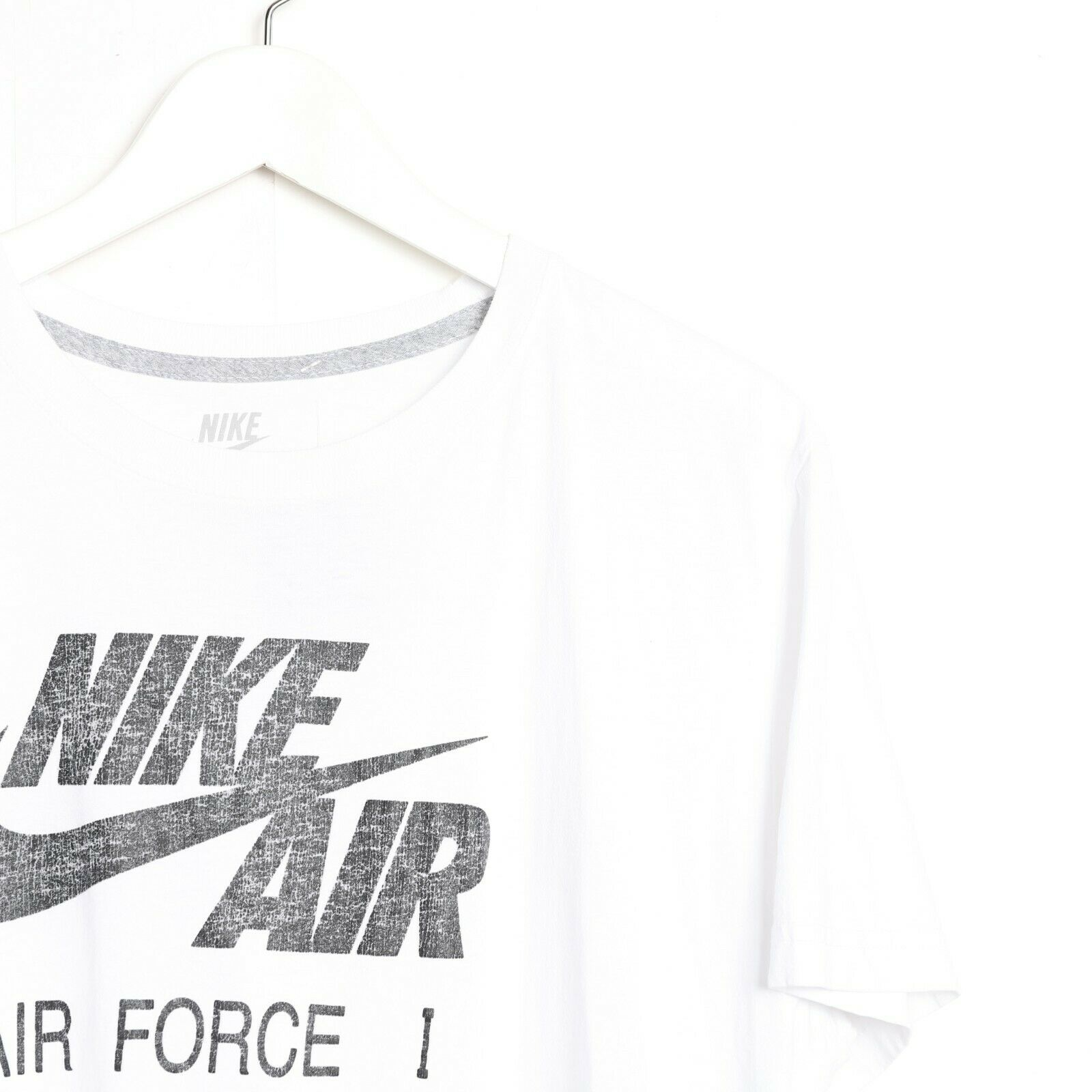 Vintage NIKE AIR FORCE 1 Big Logo T Shirt Tee White | XL